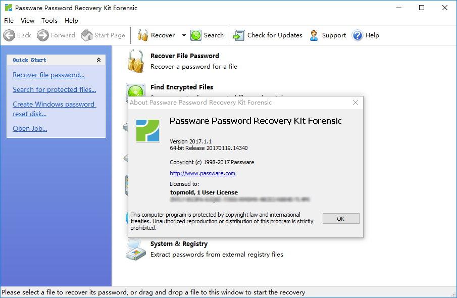 Passware Kit Forensic 2017.1.1 x86/x64注册版附注册码-密码恢复