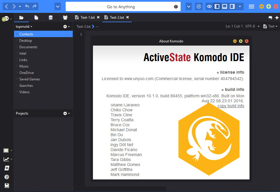 ActiveState Komodo IDE 10.1.0.89455 Win/Mac注册版附注册机