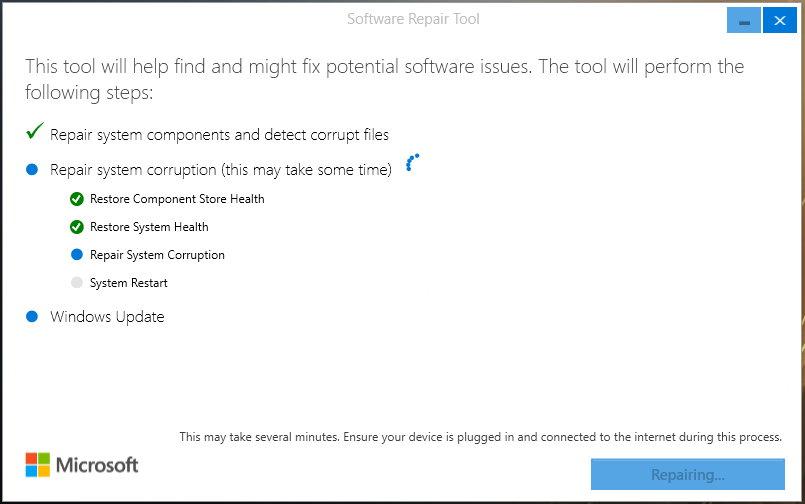 Windows Self-Healing Tool-Windows-10周年更新系统冻结修复