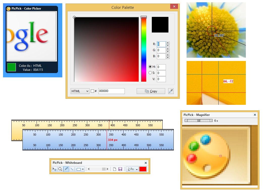 PicPick v5.0.6+Portable 多语言中文正式注册版-截图软件