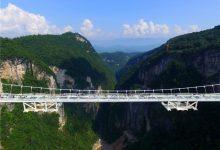 张家界大峡谷透明玻璃桥试运营-胆战心惊-联合优网