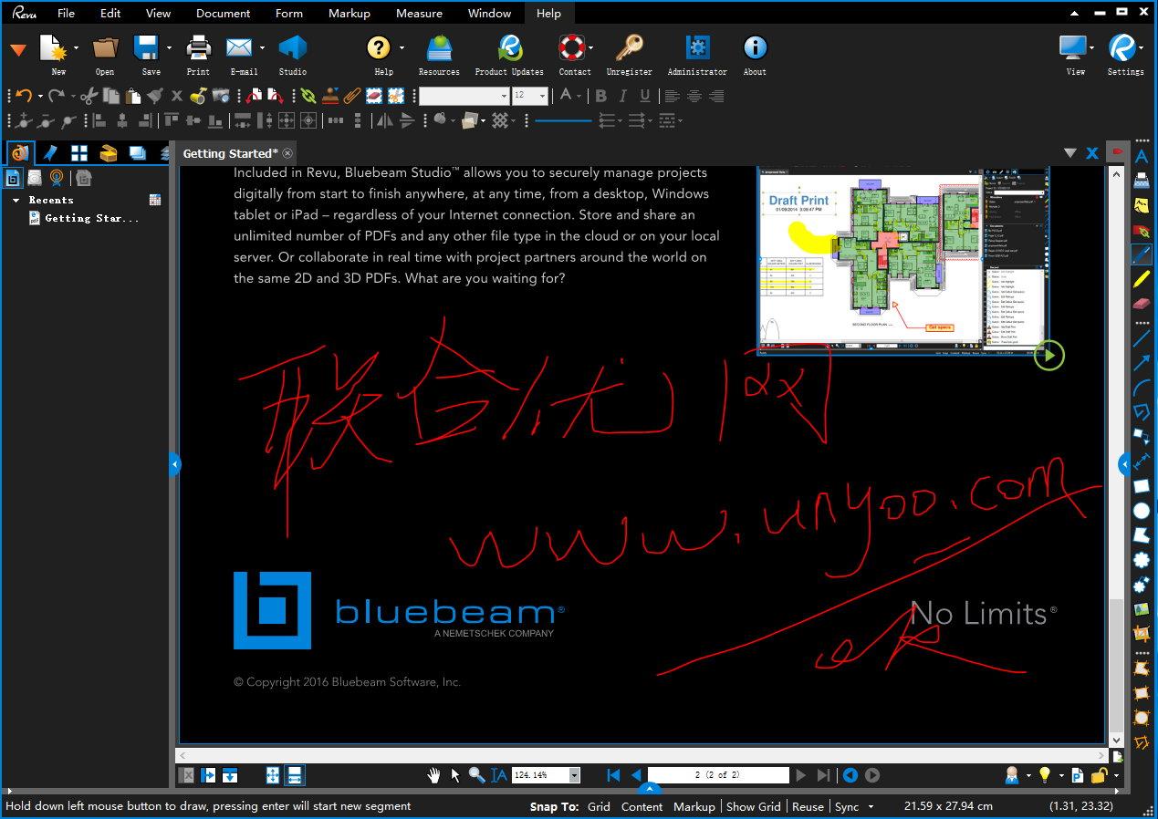 Bluebeam Revu eXtreme 2016 16.5.1破解注册版-优秀的PDF制作创建工具