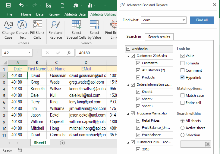 AbleBits Ultimate Suite for Excel 2016.2.355.1206 注册版附注册码