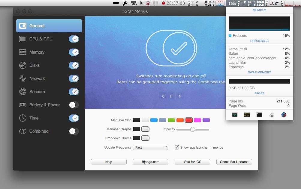 iStat Menus v6.00 for Mac 多语言注册版 - 硬件信息检测