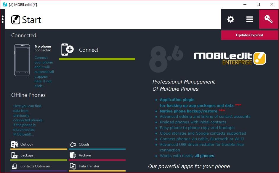 MOBILedit! Enterprise 8.7.0.20993注册版-手机与电脑相互连接