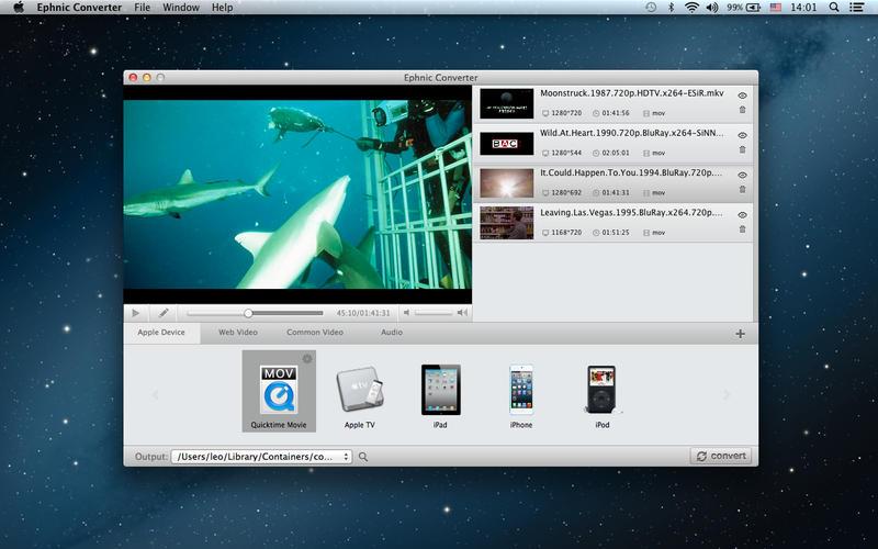 Ephnic Video Converter 1.1.0 MacOSX 注册版