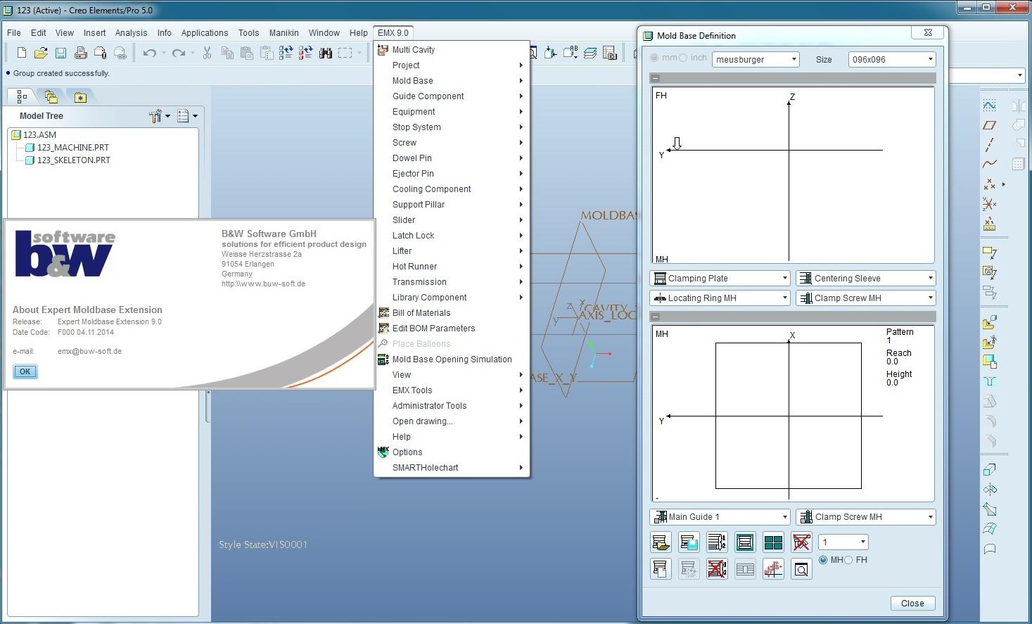 PTC Creo Expert Moldbase Extension 9.0 M020注册版-模架设计专家
