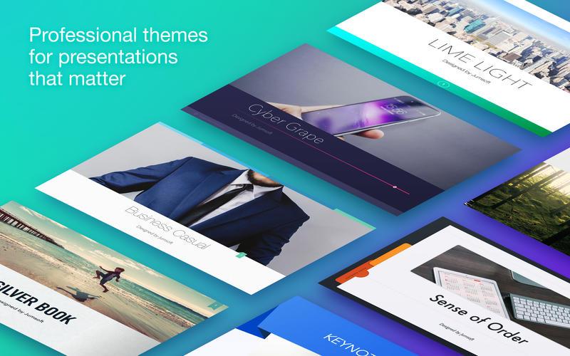 Jumsoft Themes for Keynote 4.6 MacOSX 注册版-幻灯片主题包