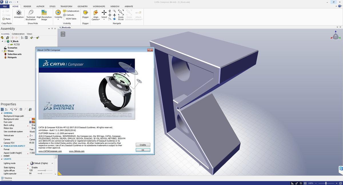 DS CATIA Composer R2017 HF1 / R2016x HF5 注册版