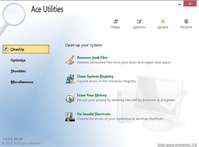 Ace Utilities 6.3.0 Build 291 x86/x64 注册版附注册机 - 统垃圾清理工具