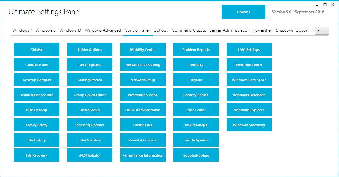 Ultimate Settings Panel 5.0/Pro 3.1注册版-系统设置终极工具包