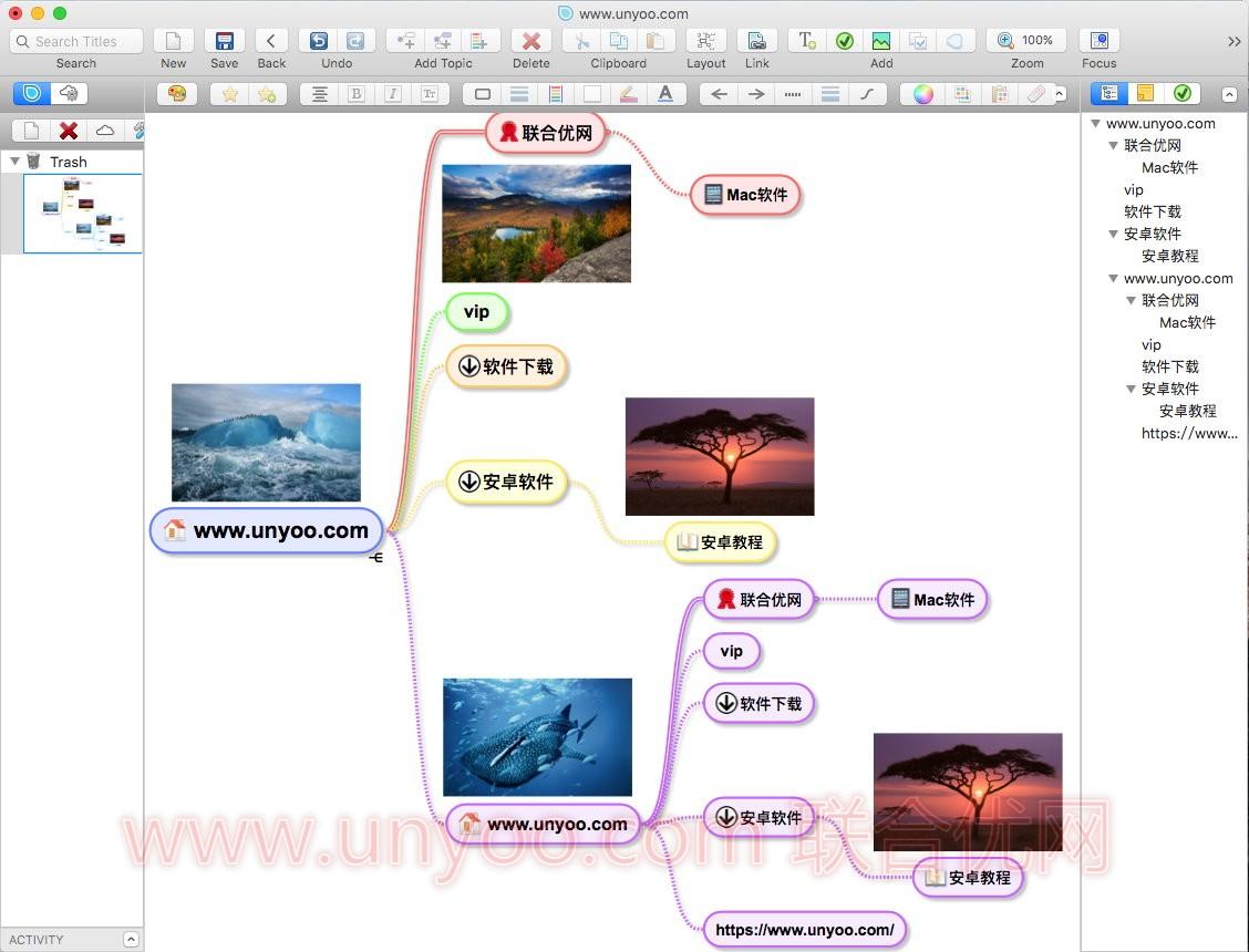 SimpleMind v1.21 MacOSX 多语言中文注册版 - 轻量级思维导图