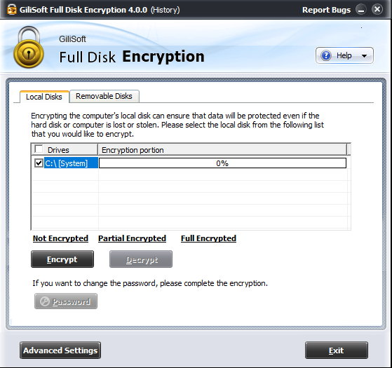 Gilisoft Full Disk Encryption 4.0 注册版附注册码-硬盘加密软件