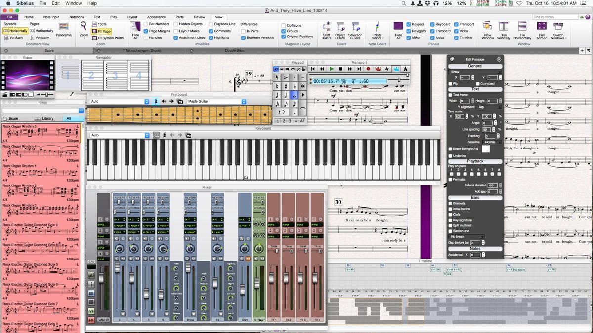 Avid Sibelius 8.4.2 Win/Mac多语言中文注册版- 专业乐谱制作软件