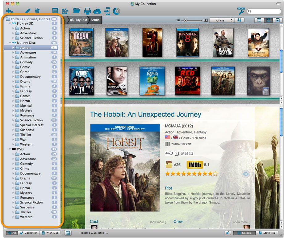 Collectorz.com Movie Collector Pro 16.1.1 MacOSX 注册版- 电影信息收集管理软件