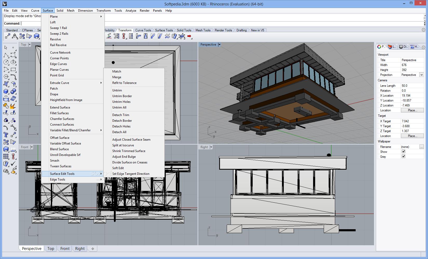Rhinoceros 5.13.60913.21340 SR14 多语言中文注册版- 3D造型软件
