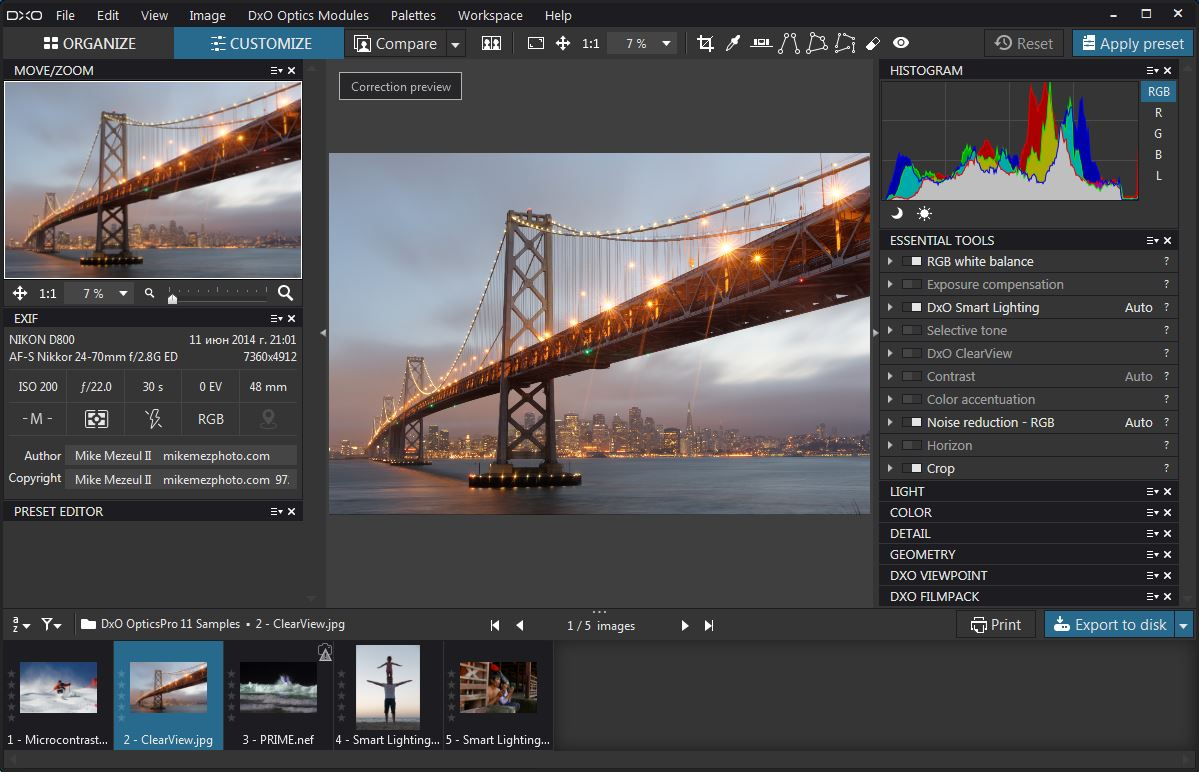 DxO Optics Pro 11.4.0 Build 11979 Elite Edition-注册版-数码照片处理后期软件