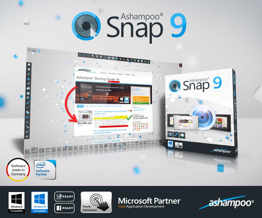 Ashampoo Snap 9.0.5 多语言中文注册版附注册码-屏幕截图工具