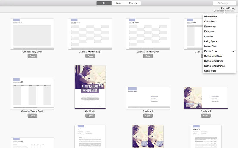 Corporate Packs for Pages By Jumsoft 2.2 MacOSX 注册版-Office模板合集