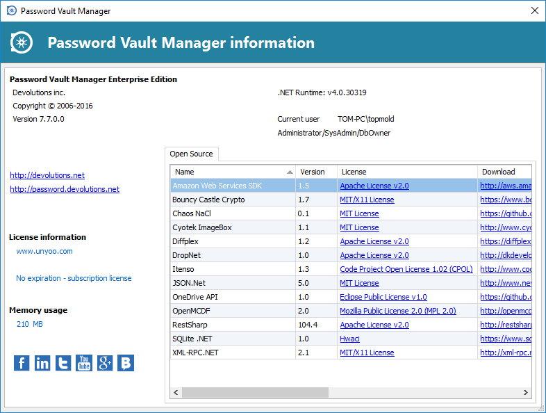Password Vault Manager Enterprise 7.7.0.0 注册版附注册机-密码管理工具
