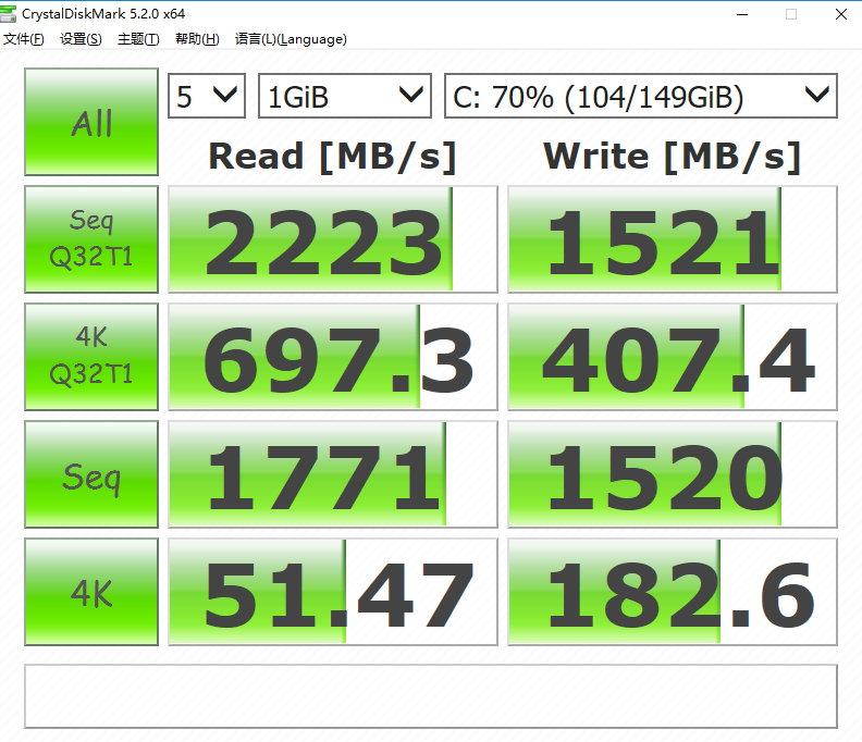 CrystalDiskMark v5.5.0 + Portable 多语言中文正式版-硬盘检测工具