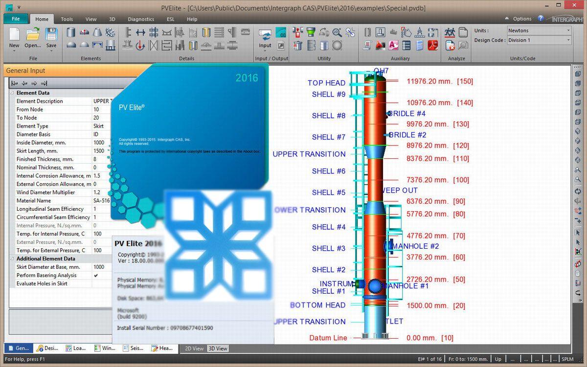 Intergraph PV Elite 2016 SP1 v18.00.01 注册版-容器和换热器设计