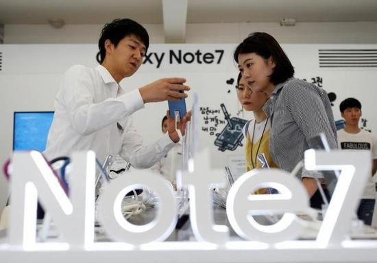 三星在中国大陆召回19万台Note7手机 可全额退款