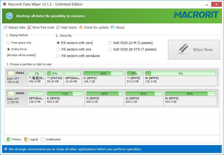 Macrorit Data Wiper 3.1.2 + Portable x86/x64 注册版附注册机-数据彻底清除工具