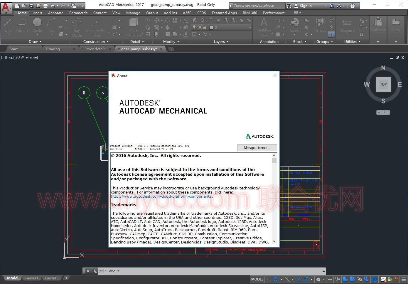 Autodesk AutoCAD Mechanical 2017 SP1 注册版附注册机-机械设计软件