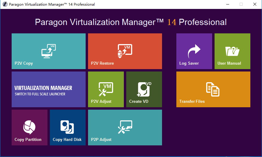 Paragon Virtualization Manager 14 Professional 10.1.21.165 x86/x64 注册版