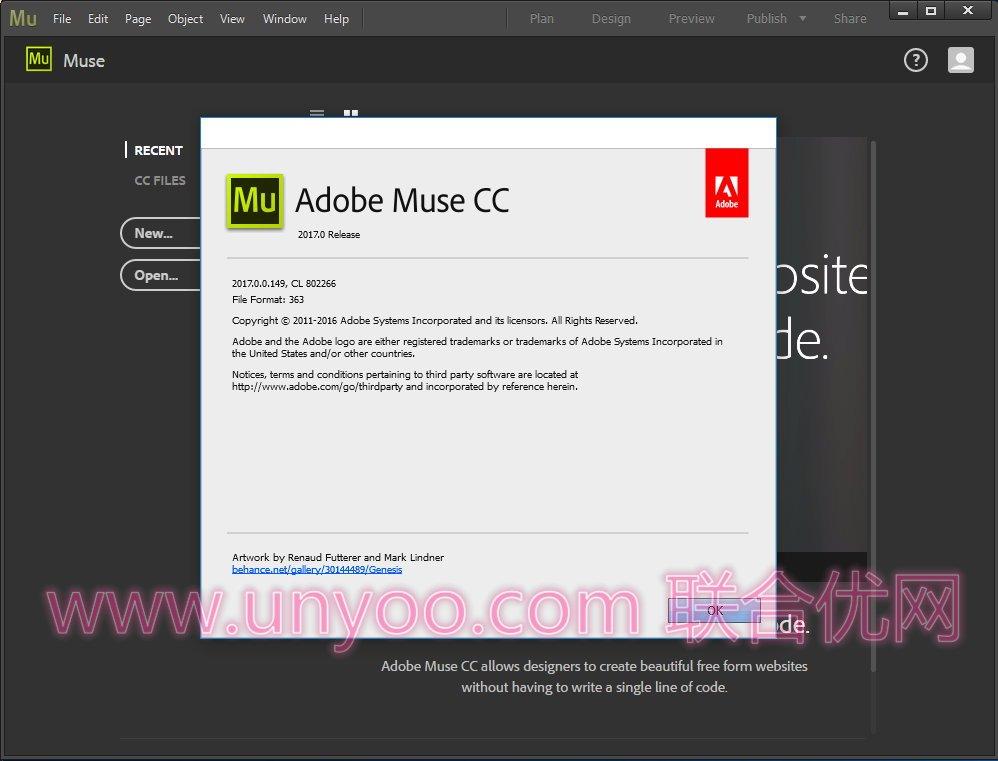 Adobe Muse CC 2017.0.3.20 Win/Mac多语言正式注册版 - 网页设计工具