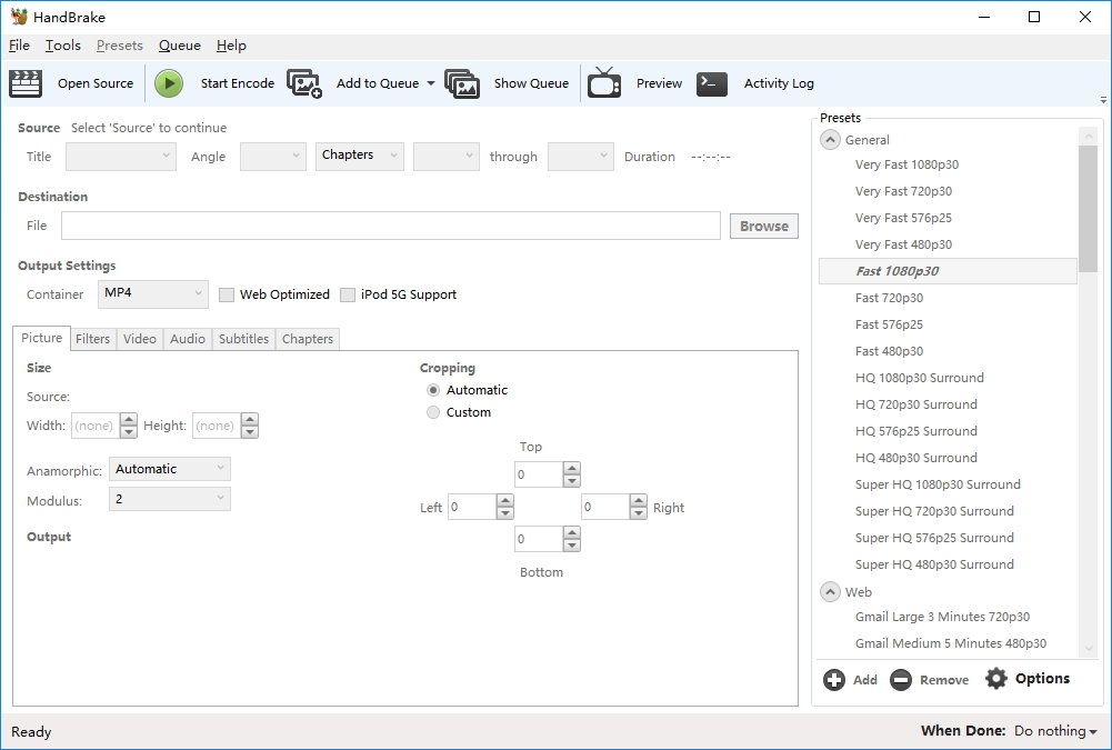 HandBrake v1.0.0 正式版-跨平台开源视频转换工具