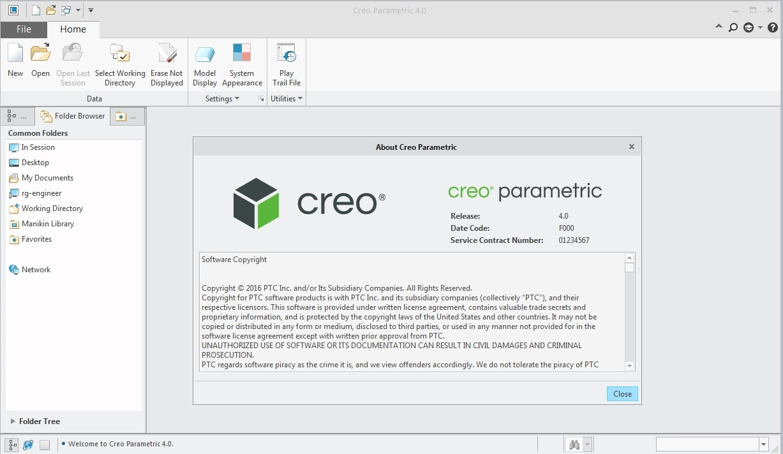 PTC Creo v4.0 M120 多语言中文注册版-2D&3D设计软件