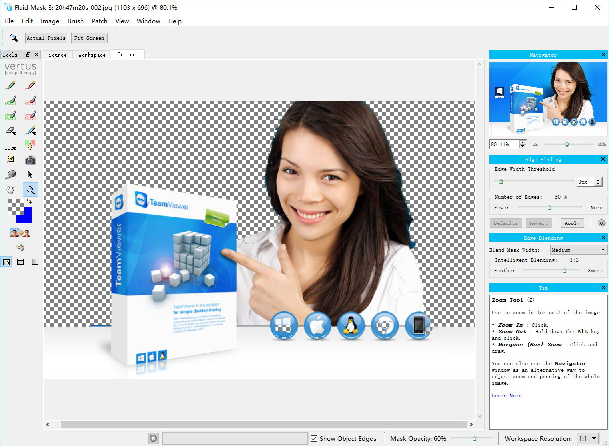 Fluid Mask 3.3.17.63450 注册版-智能抠图抠像软件及PS插件