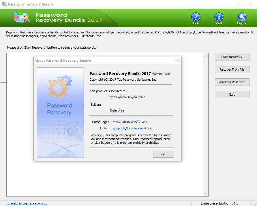 Password Recovery Bundle 2018 Enterprise Edition 4.6 注册版附注册机-密码破译工具包