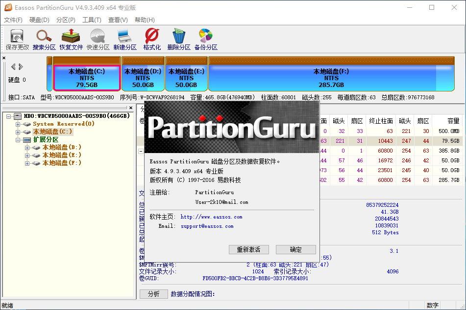 PartitionGuru Professional v4.9.5.508 x86/x64 中文专业版汉化完整版与绿色免安装版