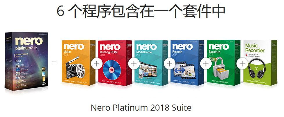 Nero Platinum 2018 Suite v19.0.10200+ContentPack 多语言中文注册版-4K多媒体套件