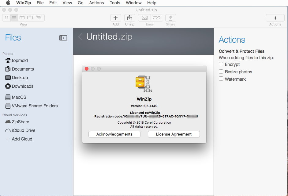 WinZip Mac v7.0.4565 MacOSX 多语言注册版附注册码