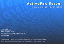 ActiveFax Server 6.65 Build 0289 Final x86/x64 正式注册版-电脑传真服务器-联合优网