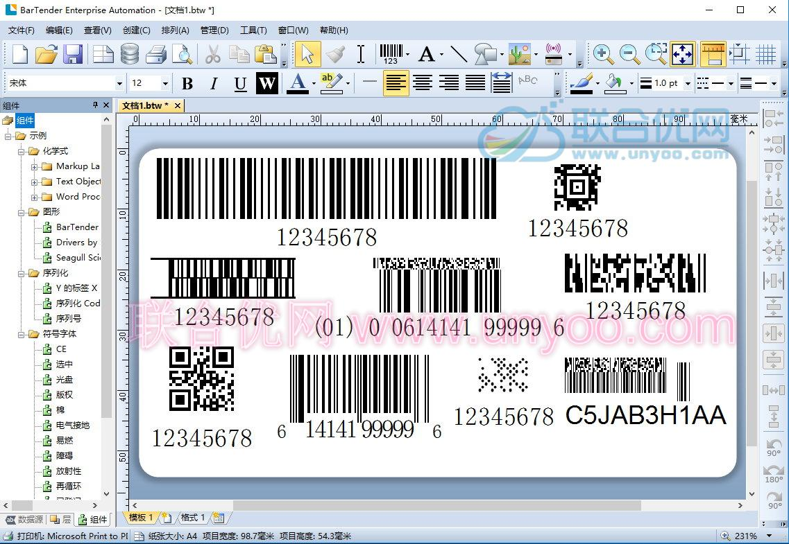 BarTender Enterprise Automation 2016 R8 v11.0.8.3153 x86/x64 多语言中文注册版-标签设计打印