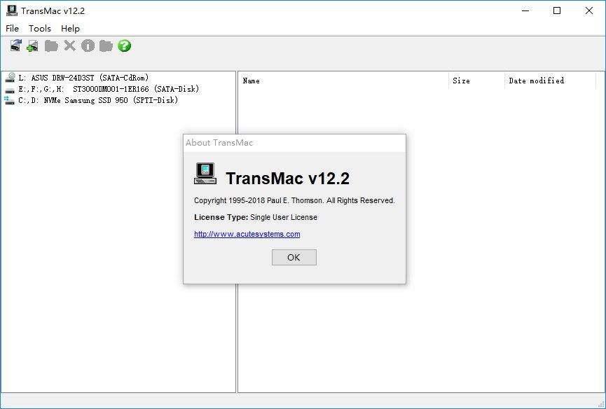 TransMac v12.7 注册版- Mac APFS/HFS+/HFS镜像读取与写入工具
