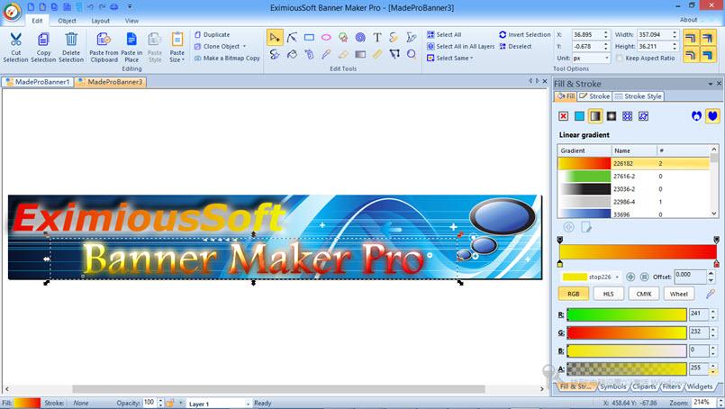 EximiousSoft Banner Maker v5.48 注册版-横幅制作工具