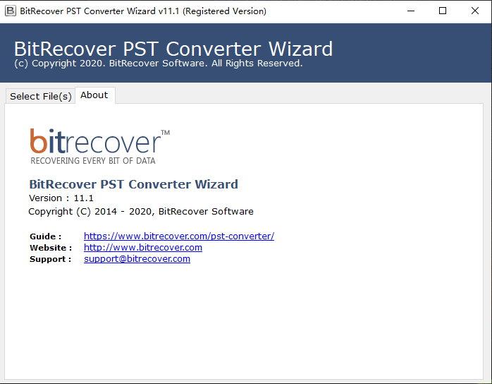 BitRecover PST Converter Wizard v11.1 注册版附注册码-PST转换工具
