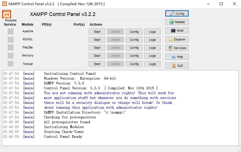 XAMPP with PHP 7.3.0, 7.2.13, 7.1.25, 7.0.33 & 5.6.39 发布