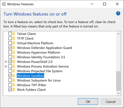 Windows 10 引入Windows Sandbox沙盒子系统新特性-让系统安全清爽无残留