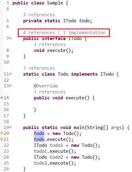 Java 编辑器支持 Code Minings 功能