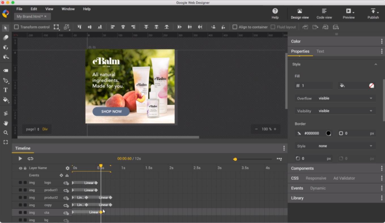 Google Web Designer v6.0 正式版-HTML5内容创建工具