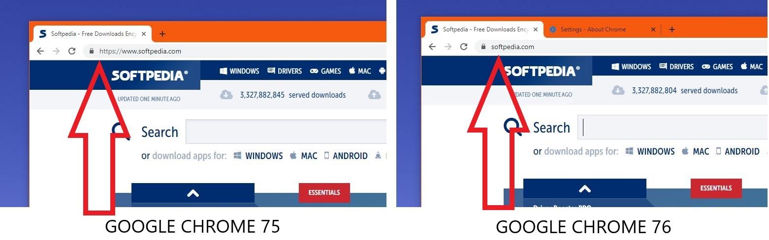 谷歌Chrome 76地址栏隐藏的HTTPS和WWWS标记恢复方法