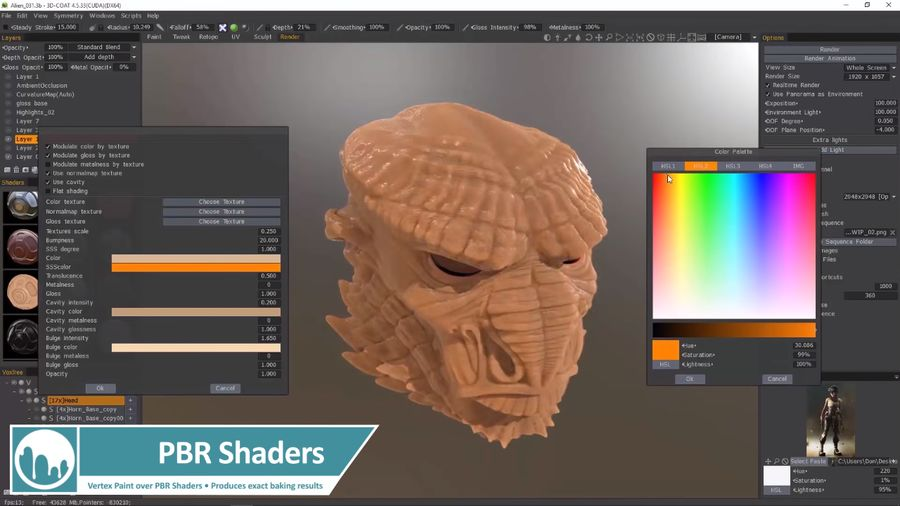 3D Coat v4.9.58 Win x64多语言中文注册版-3D数字雕塑