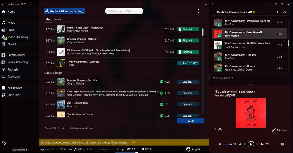 Audials One v2020.0.57.5700 Platinum 注册版-媒体播放下载工具